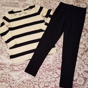 Crewcuts 2 piece:long sleeve embellished T & pants
